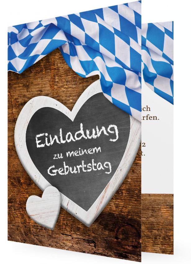 Geburtstagseinladungskarte Bayrisch Familieneinladungende