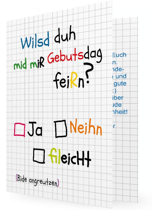 Geburtstagskarte - Wilsd duh? | Familieneinladungen.de