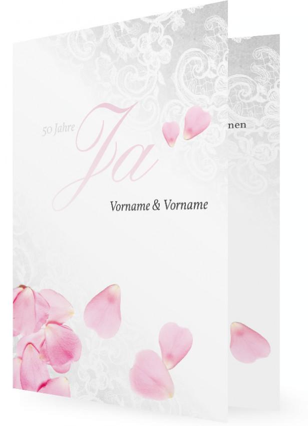 Goldene Hochzeit Einladungen Gestalten, Blütenblätter