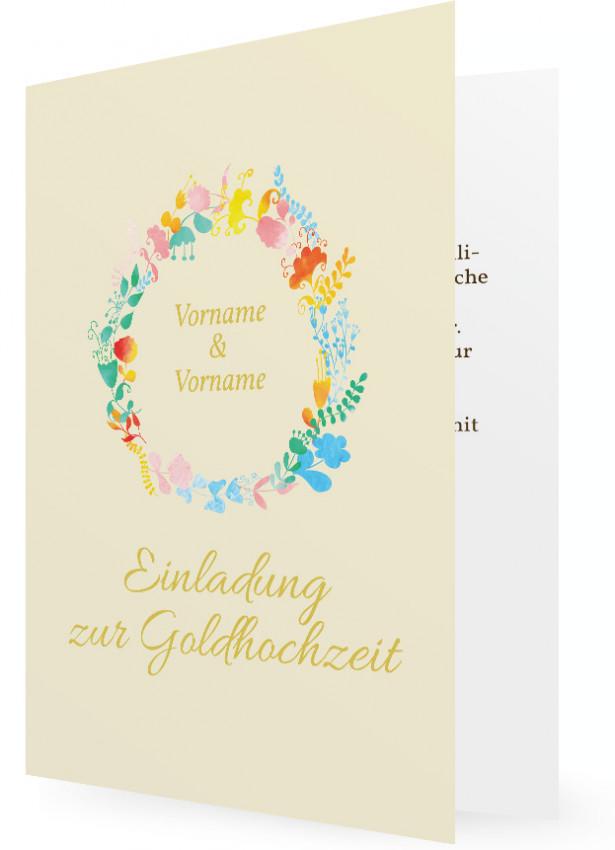 Goldene Hochzeit Einladungen Gestalten Familieneinladungen De