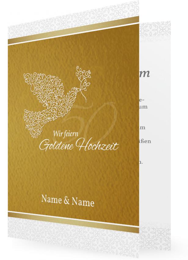 Goldene Hochzeit Einladungskarten Familieneinladungende