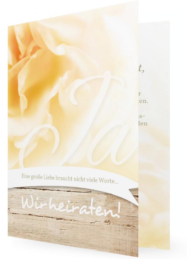 Hochzeitseinladungen Selbst Gestalten, Große Weiße Rose