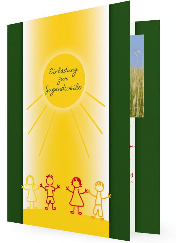 jugendweihe einladung vorlagen | familieneinladungen.de, Einladung