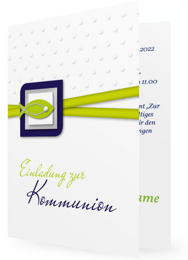 Kommunion Einladungen Vorlage | Familieneinladungen.de