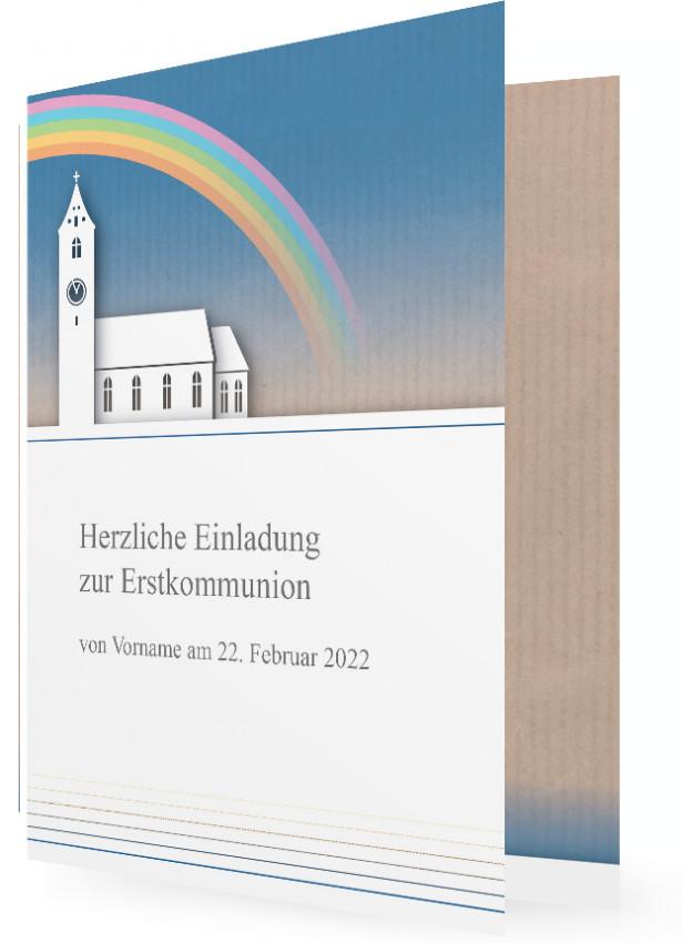 kommunion einladungskarte | familieneinladungen.de, Einladungsentwurf