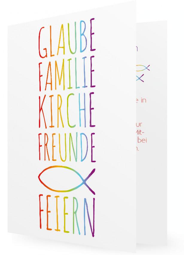 Kommunion Einladungskarte Vorlage | Familieneinladungen.de
