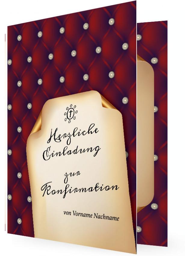 konfirmation einladungen | familieneinladungen.de, Einladung