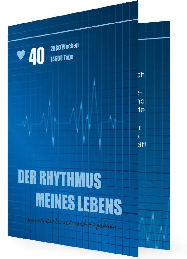Lustige Einladung 40. Geburtstag, Rhythmus Des Lebens 40 Jahre
