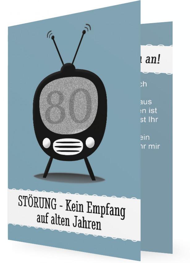 lustige Einladung 80. Geburtstag | Familieneinladungen.de