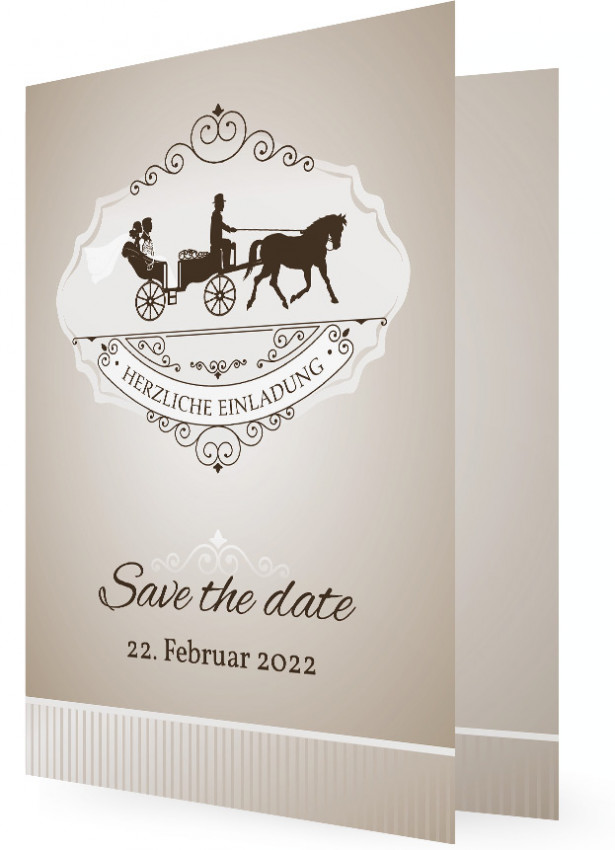 save the date karten hochzeit hochzeitskutsche. Black Bedroom Furniture Sets. Home Design Ideas