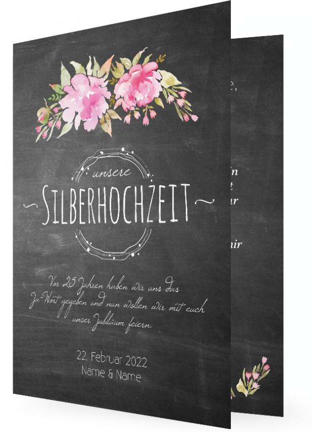Einladungskarten Silberhochzeit Einladungskarten: Silberhochzeit Einladungskarte Vorlagen