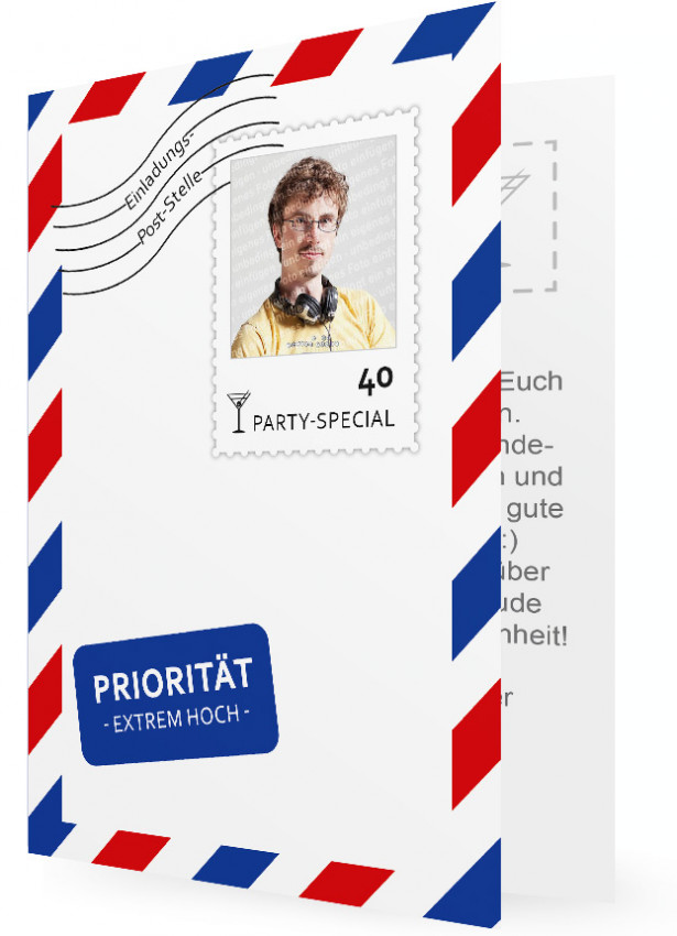 Vorlage Einladung 40. Geburtstag | Familieneinladungen.de