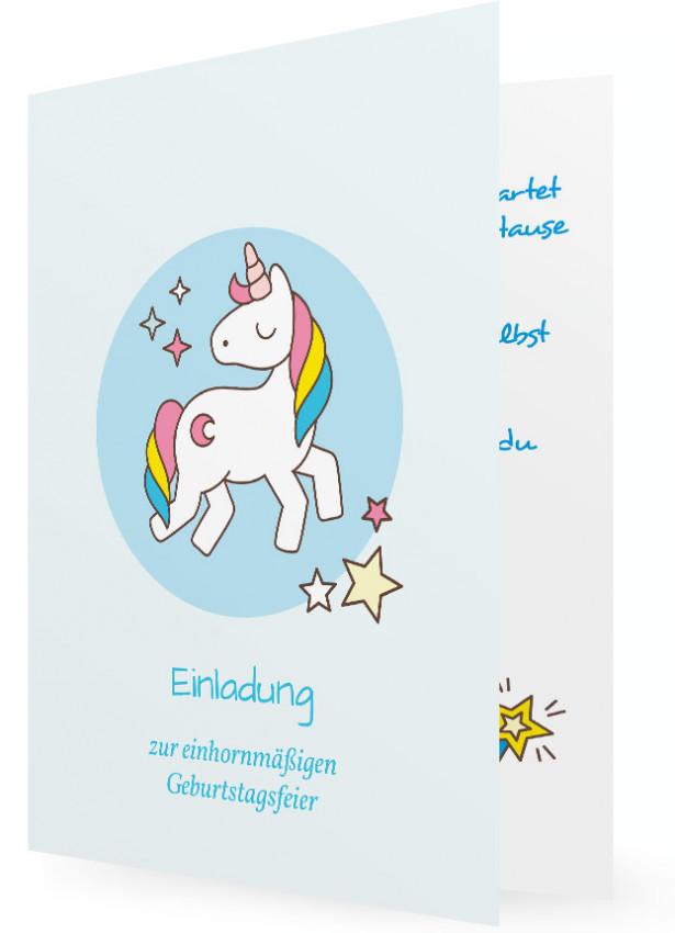 Susse Einhorn Einladungskarte Zum Ausdrucken 15
