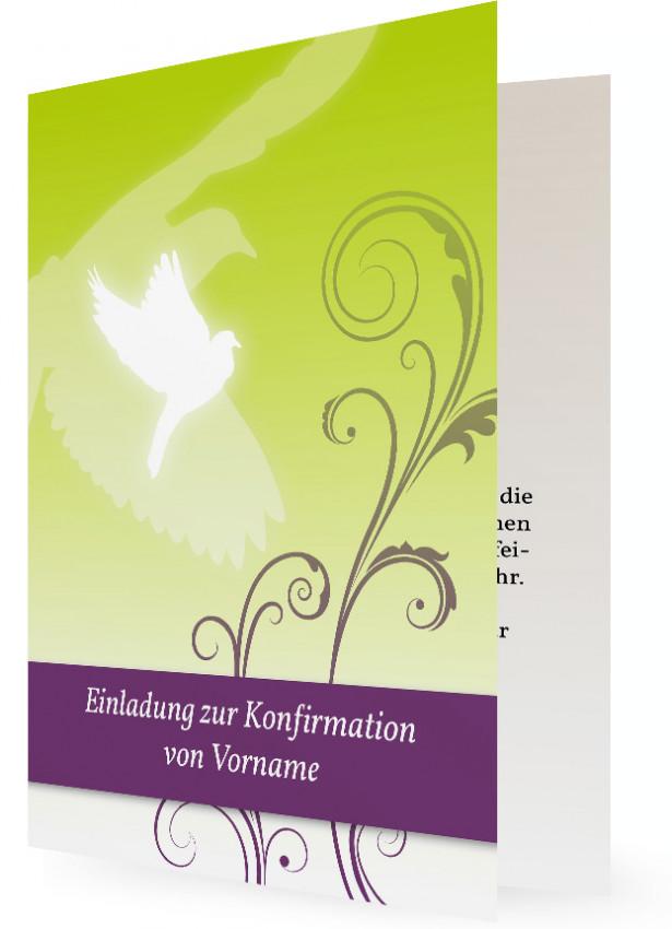 vorlage einladung konfirmation | familieneinladungen.de, Einladungen