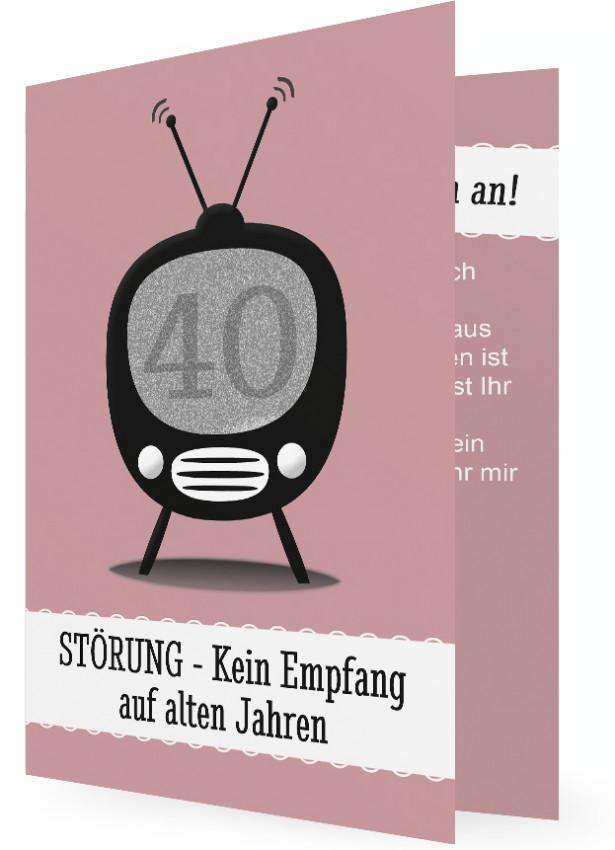 Vorlage Einladungen 40. Geburtstag | Familieneinladungen.de