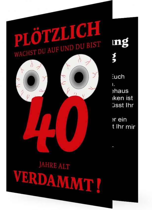 Vorlage Einladungskarte 40. Geburtstag | Familieneinladungen.de