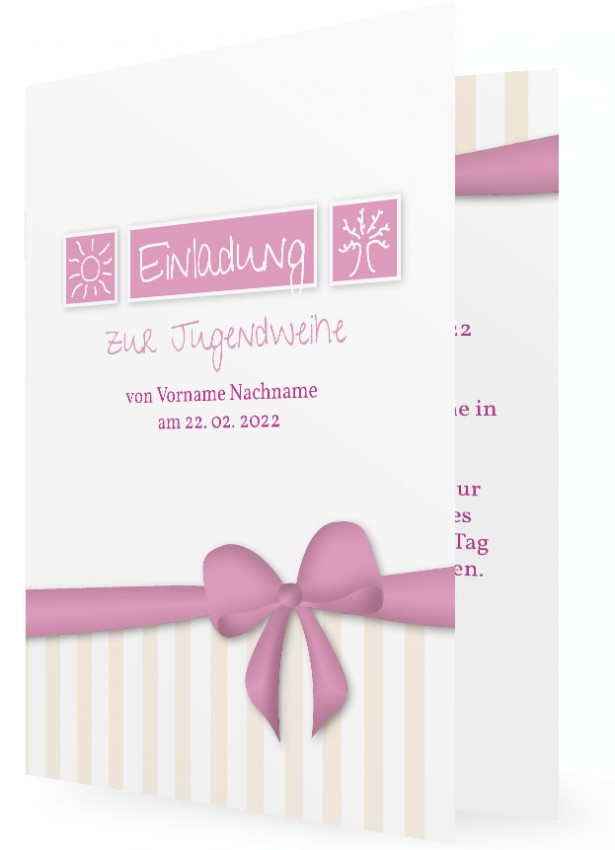 Vorlage Einladungskarten zur Jugendweihe | Familieneinladungen.de