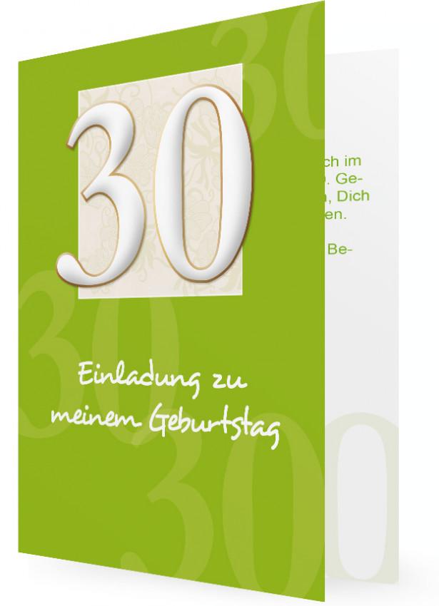vorlage für einladung zum 30. geburtstag | familieneinladungen.de, Einladung