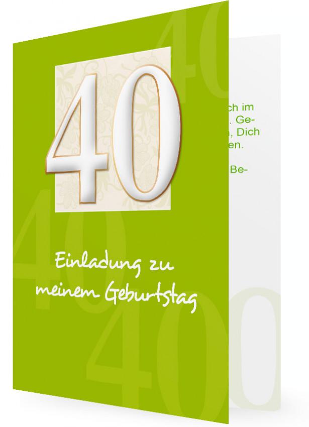vorlage für einladung zum 40. geburtstag | familieneinladungen.de, Einladung