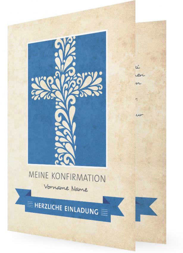 vorlage konfirmation einladung | familieneinladungen.de, Einladungen