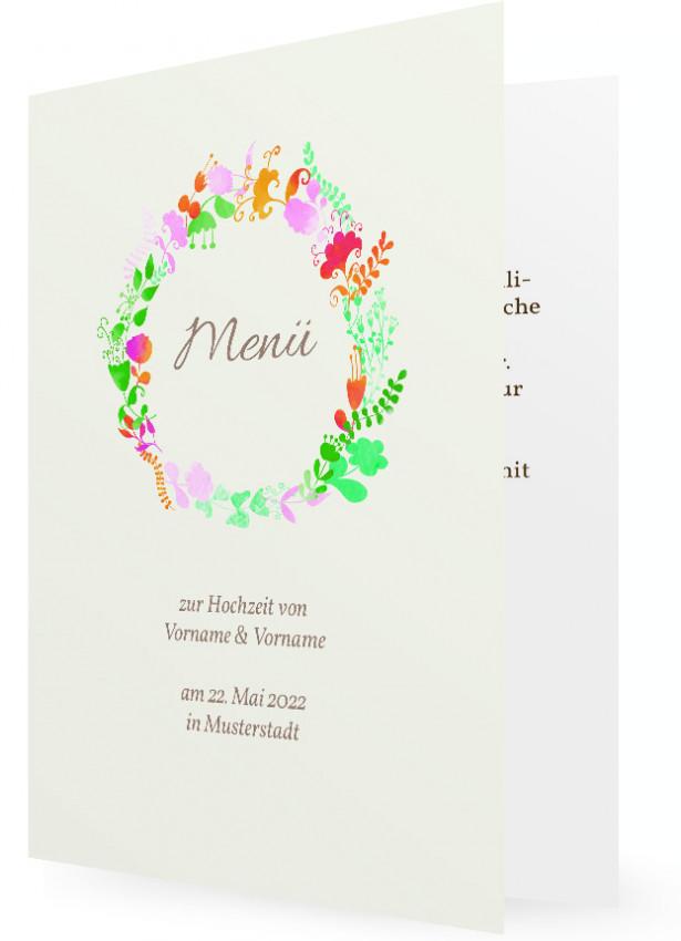 Vorlage Menükarte Zur Hochzeit Familieneinladungende
