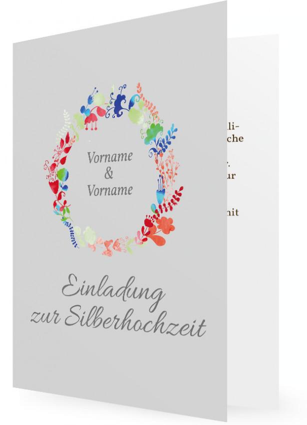 Vorlage Silberne Hochzeit Einladungskarte Familieneinladungen De