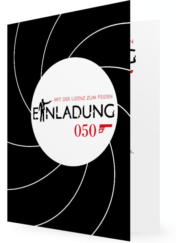Vorlagen 50. Geburtstag Einladungen, Agent 050