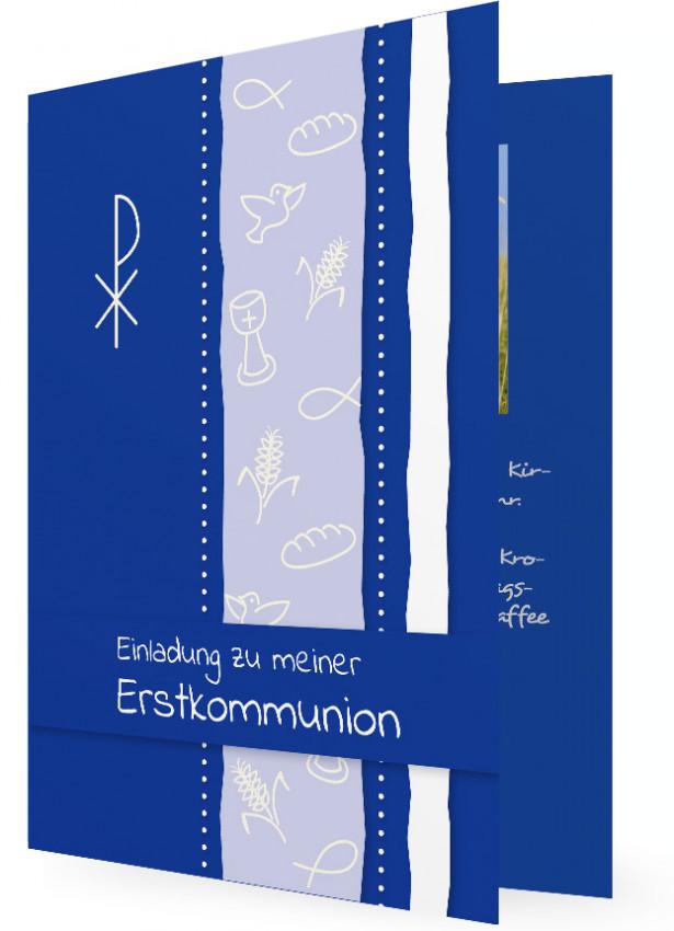 Vorlagen Einladungen Erstkommunion | Familieneinladungen.de