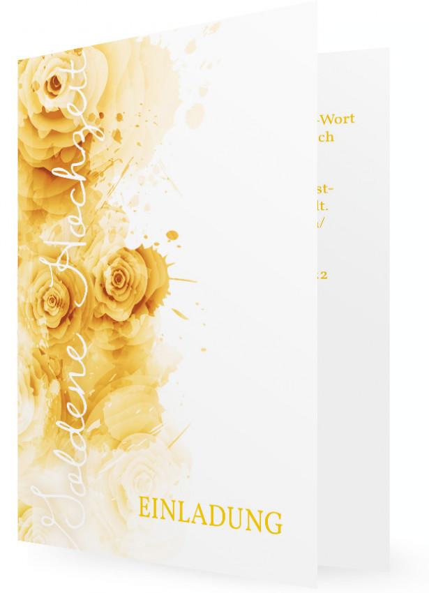 Vorlagen Einladungskarten Goldene Hochzeit