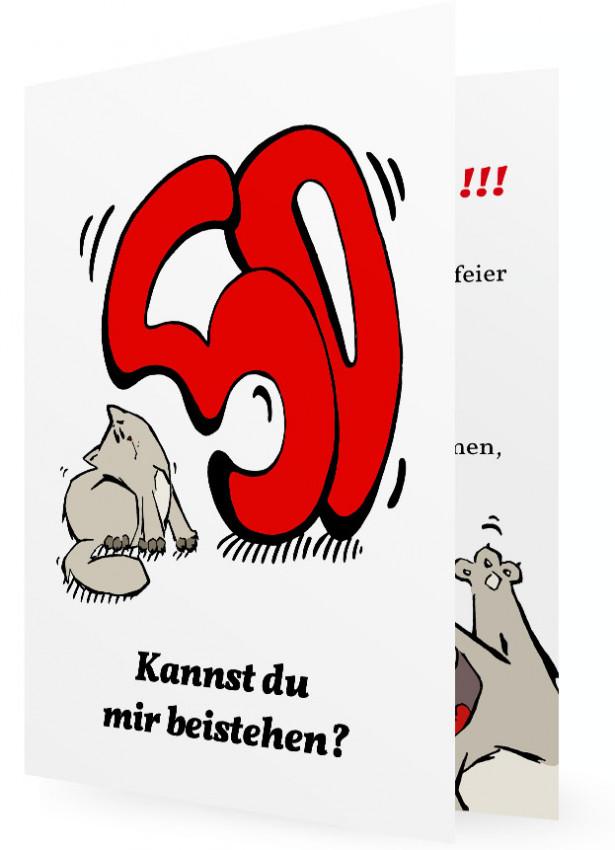 witzige einladung zum 50 geburtstag | familieneinladungen.de, Einladung