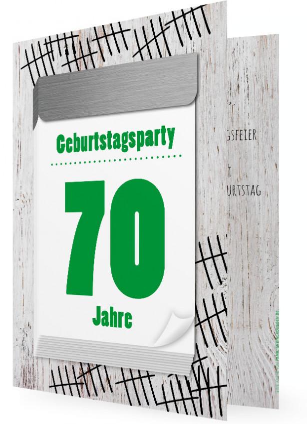 Witzige Geburtstagseinladungen zum 70. | Familieneinladungen.de