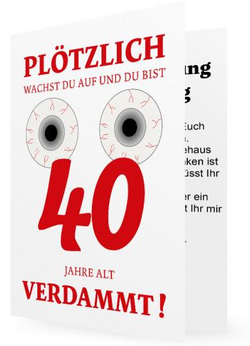 40. Geburtstag Einladungskarte Vorlage | Familieneinladungen.de