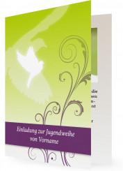 Friedenstaube Jugendweihe Einladungskarten Einladungen Jugendfeier individuell