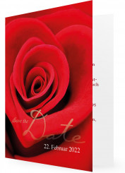 Save the date Ideen und Vorlagen, rote Rose
