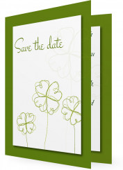 Vorlage Save the date, Klee
