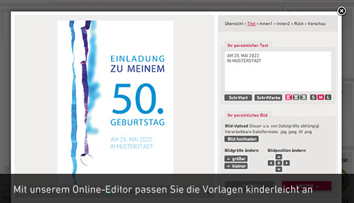 Einladungskarten & Einladungen | Familieneinladungen.de